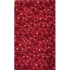 Julestof Rød Prik 50 x 55 cm