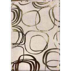 Guld Snirkler / Hvid  50 cm x 55 cm