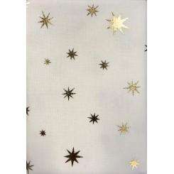 Patchwork stof Guld / hvid stjerne