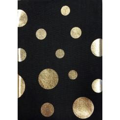Guld Cirkel / Sort  50 cm x 55 cm