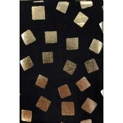 Guld firkant / Sort  50 cm x 55 cm