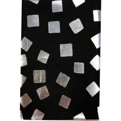 Sølv firkant / Sort  50 cm x 55 cm