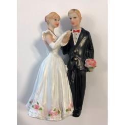 Brudepar kage top figur