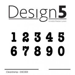 Numbers Silikone stempel, D5C003