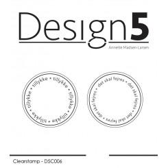 Tillykke cirkel stempel, D5C006