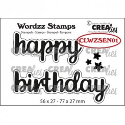 Crealies stempel Happy Birthday