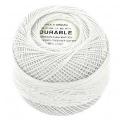 Hæklegarn Hvid 20 g. Durable