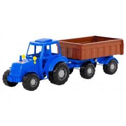 Traktor med hænger 58 x 17 x 18 cm