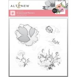 Layering stencil Greenwood flowers