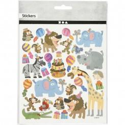 Wild animals Party stickers 1 ark