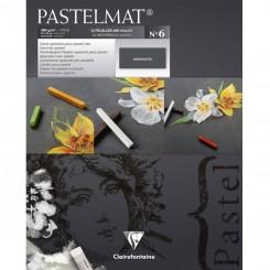 Pastelmat antrasitgrå 12 sider, 24 x 30 cm