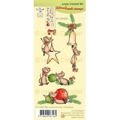 the world of mice christmas stempel