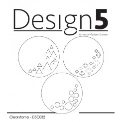 Cirkler med mønster stempler, Design 5