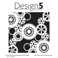 Tandhjul stencil, Design 5
