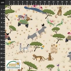 Cocos Safari stof 100 x 120 cm