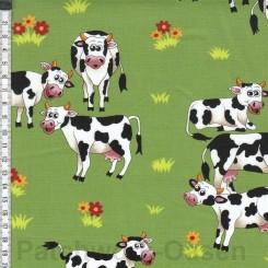 Farm Fun cow stof 100 x 115 cm