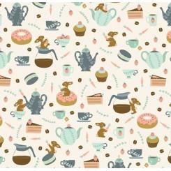 Coffee bunnies patchwork 50 x 55 cm