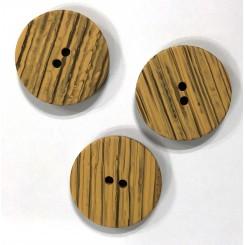 Creme stribet knap 25 mm