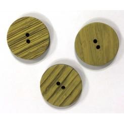 Støvgrøn stribet knap 25 mm