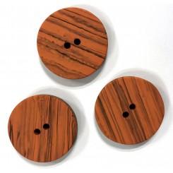 Orange stribet knap 25 mm