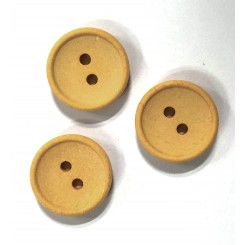 Bomuldsknap Vanillie 2 huls x 15 mm