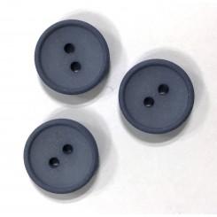Bomuldsknap Blå 2 huls x 15 mm