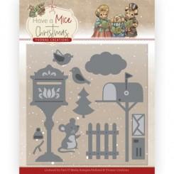 Christmas mouse letters dies sæt