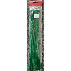 Piberensere / Chenille 6mm Grøn