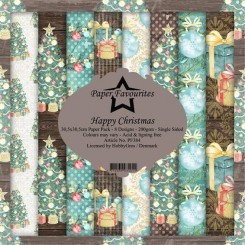 Happy Christmas paper pack 30,5 x 3