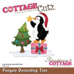 Penquin decorating Tree CC-923
