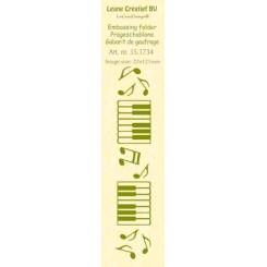 Embossingfolder bord Music Leane