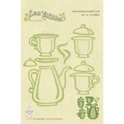tea set dies, Leane Creatief