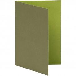 Indbydelses kort  Grøn 10,5x15