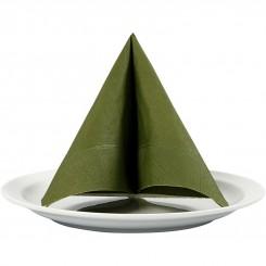 Grøn serviet 33x33 cm