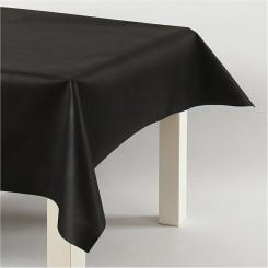 Dug sort, imiteret stof 1,25x10 m
