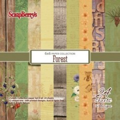 Scrapberry´s  Forrest paper 24 ark