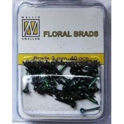 Brads black, 40 stk, Nellie Snellen
