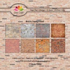 Brick background Paper pad