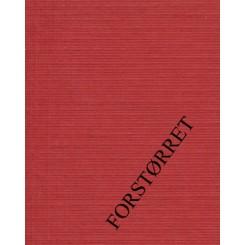 250 g Linnen karton Julerød fv. 58
