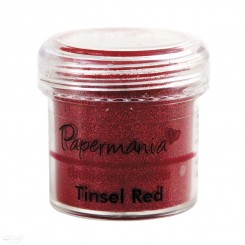 Embossingpulver Tinsel Red