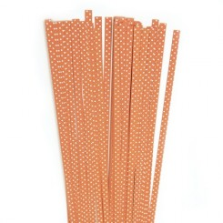 Quillingst 5mm Orange/ hvid dot