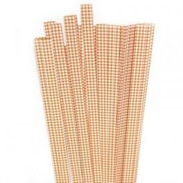 Strimler Orange checkert 15 x 450m