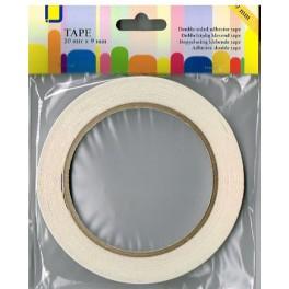 Tape dobbeltklæb 9 mm x 20 m