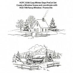 Cozy winter days set stempel