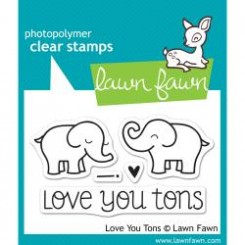 Love you tons stamp set, Lawn Fawn