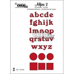 Alfies 02 bogstaver små , Crealies