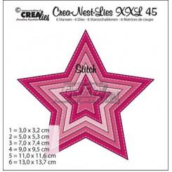 Crealies  stjerne dies med stitches