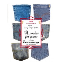 A pocket for jeans, 9 x 9 cm